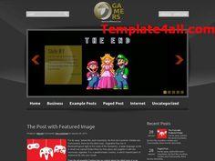 Abstract Gamers Wordpress Theme Design - Free Wordpress Themes #wordpress #themes #gamers