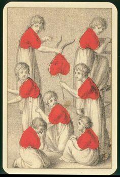8 of hearts playing cards Hearts Playing Cards, Playing Cards Art, Vintage Playing Cards, Illustrations, Illustration Art, Play Your Cards Right, Art Carte, Art Graphique, Gravure