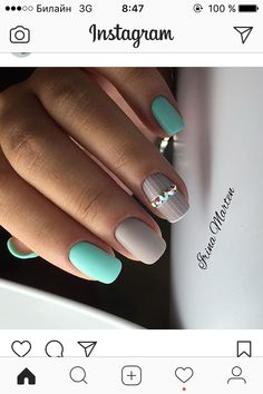 Try some of these designs and give your nails a quick makeover, gallery of unique nail art designs for any season. The best images and creative ideas for your nails. Pretty Nail Colors, Pretty Nail Designs, Pretty Nails, Nail Art Designs, Uñas Fashion, Nailed It, Nail Design Video, Gelish Nails, Manicures