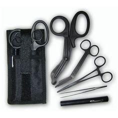 Shears; EMT/Scissors combo pack w/holster -Tactical All Black: Health & Personal Care $16.95
