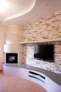 Modern tv wall unit cabinet designs 2016 aravind for Caminetto ad angolo contemporaneo