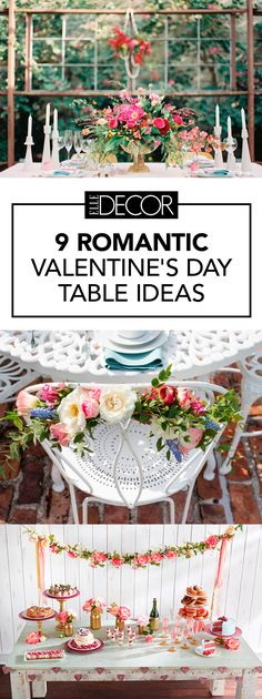 These floral romantic Valentine's Day table settings are the surest way to wow your valentine.