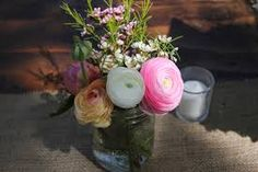 Image result for pine paneling flowers wedding decor