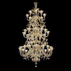Ceiling Lights & Fans Dutiful Custom Light Murano Glass Amber Glass Chandelier