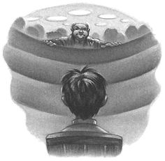 Order of the Phoenix, Chapter art - chapter 08 - The Hearing, by Mary GrandPré © 2003 Warner Bros. Harry Potter Illustrations, Harry Potter Drawings, Harry Potter Pictures, Harry Potter Warner Bros, Arte Do Harry Potter, Harry Potter Book Covers, The Sorcerer's Stone, Cursed Child, Mischief Managed