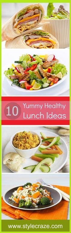 Top 10 Yummy Healthy Lunch Ideas #YummyRecipes #HealthyRecipes #LunchIdeas