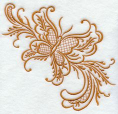 Simply Rosemaling Sommerfugl 1 design (H4149) from www.Emblibrary.com
