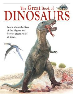 """Everything Dinosaur team members review the children's book """"The Great Book of Dinosaurs"""", an idea book for primary school children."""