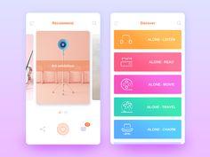Alone app concept design by Dan1 #Design Popular #Dribbble #shots