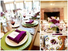 Green & purple winery wedding