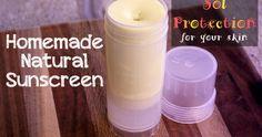 Homemade Natural Sunscreen - thehippyhomemaker.com
