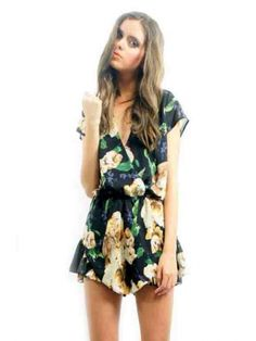 CLOTHING :: All Clothing :: LIONESS Broken Flower Playsuit (Black) - - Open Closet | Online Fashion Store | Womens Clothing and Accessories | Brisbane, Queensland, Australia