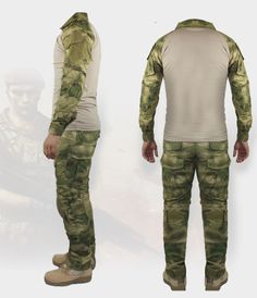 Gen2 Combat Suit And Pant with Pad(A-Tacs FG)
