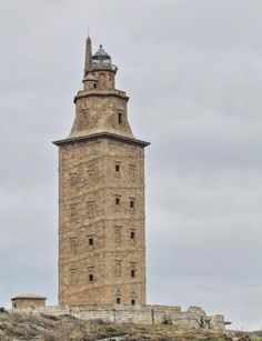 Tower of Hercules is an ancient Roman lighthouse→Spain Spain History, Celtic Nations, Spain Travel Guide, Ancient Buildings, House By The Sea, Basque Country, Spain And Portugal, Water Tower, Historical Architecture