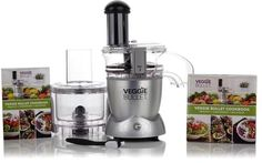 $159.95 - As Seen on TV NutriBullet Veggie Bullet 3-in-1 Machine and Recipe Book - Nutribullet Veggie Bullet 3-in-1 Machine and Recipe Book You can merely prepare food, or you can create memorable dishes and put your own signature on them with the Veggie Bullet. It automatically slices, shreds and spiralizes food with the push of a button, quickly preparing them for a wide array of culinary applications. Plus, it takes the grunt work out of food prep, eliminating the extra effort that often…