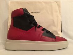 huge selection of 41daa 8b568 BRAND NEW  435 DS Represent Clo Alpha Mid Sneaker Red   Black US 12   UK