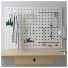 IKEA furniture and home accessories are practical, well designed and affordable. Here you can find your local IKEA website and more about the IKEA business idea. Hanging Clothes Organizer, Hanging Storage, Small Storage, Storage Boxes, Hanging Closet, Storage Hacks, Ikea Skadis, Ikea Pegboard, White Pegboard