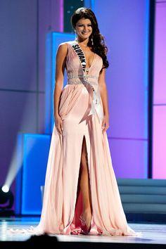 Miss Universe Slovak Republic 2011 Dagmar Kolosarova in her custom gown from LA CASA HERMOSA of Wellington