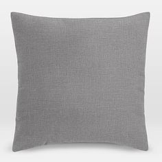 """Upholstery Fabric Pillow Cover, 24""""x24"""" Square Pillow, Yarn Dyed Linen Weave, Pumice"""