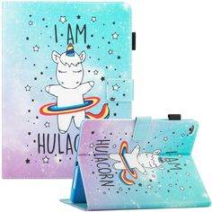 Cute Hulacorn Tablet Case for iPad Mini, Air, samsung galaxy tab etc Cute Ipad Cases, Ipad Mini Cases, Cool Cases, Tablet Cases, Carbon Fiber Wrap, Nintendo Switch Accessories, Girly, Backpack For Teens, Pink Wallpaper Iphone