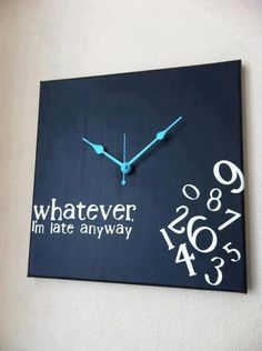 I totally NEED this clock!!