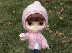 Blythe Doll in pink sweater