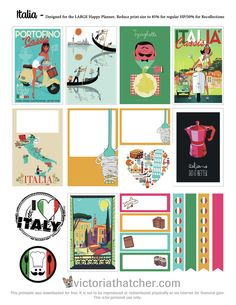 FREE Italia Planner Stickers by Victoria Thatcher