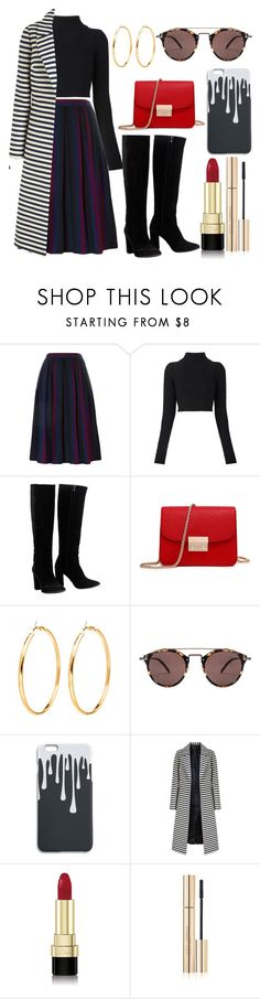 """Untitled #309"" by emilywells215 ❤ liked on Polyvore featuring Yves Saint Laurent, Balmain, Chloé, Oliver Peoples and Dolce&Gabbana"