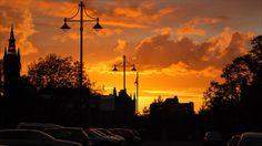 Glasgow sunset. #glasgow2014 #glasgow #scotland www.glasgow2014.com
