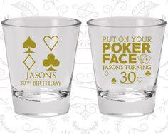 30th Birthday Shot Glass, Las Vegas Birthday, Poker Birthday, Casino Birthday, Birthday Shot Glass, Birthday Glass (20062)