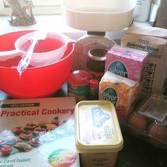 Nikkipedia: Ready to start some baking. #baking #cooking #cake #cakes #victoriasponge #food