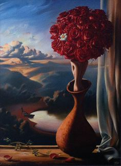 Vladimir Kush Rose Awaiting painting is shipped worldwide,including stretched canvas and framed art.This Vladimir Kush Rose Awaiting painting is available at custom size. Vladimir Kush, Wassily Kandinsky, Monet, Street Art, Francis Picabia, Magic Realism, Art Sculpture, Sculptures For Sale, Magritte