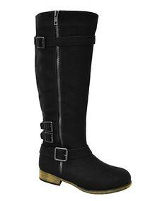 Loving this Black Zipper Noah Riding Boot on #zulily! #zulilyfinds