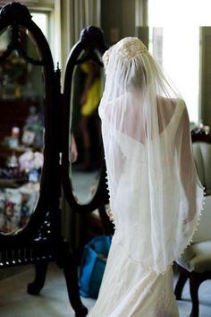 modern day vintage bride, veil