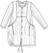 Kleid aus Baumwolle/Leinen
