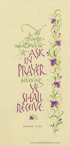 Ask in prayer