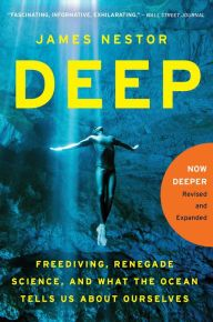 """New York Times Book Review Editors' Choice • An Amazon Best Science Book of 2014 • Scientific American Recommended Read  """"Fascinating, informative, exhilarating."""" —Wall Street Journal  Deep is a voyage from the ocean's surface to its darkest trenches, the most mysterious places on Earth. Fascinated by the sport of freediving—in which competitors descend great depths on a single breath—James Nestor embeds with a gang of oceangoing extreme athletes and renegade researchers."""