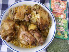 W Mojej Kuchni Lubię.. : szybkowar-golonki na warzywnej kapuście z czosnkie...