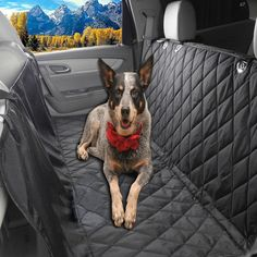Glyby Pet Car Seat Cover for Dog - Car Backing Seat Cover for Trucks Suv's and Vehicles Seat Side Flaps - Quilted Waterproof Non Slip Hammock Convertible -- Click image for more details.