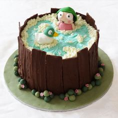 Post with 18 votes and 1704 views. Sarah and Duck Cake Mary Birthday, 2 Birthday Cake, Winter Birthday, Birthday Ideas, Farm Party Foods, Sarah Duck, Duck Cake, Love Cake, Pretty Cakes