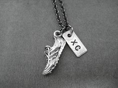 Run XC Cross Country Necklace  Run Shoe plus XC by TheRunHome, $19.00