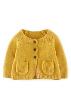 gelbe Strickjacke für die Puppe