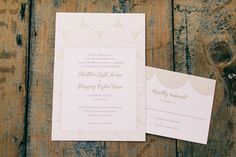 #Rustic #classic dusty rose #pink wedding invitations (Photo by Ulmer Studios)