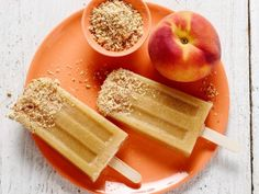 Grilled-Peach and Almond Ice Pops