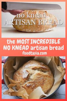 World's EASIEST and BEST crusty, artisan No Knead Bread with a rustic crust and a soft chewy interior. Made in a dutch oven, with other options for baking. Beginners Bread Recipe, Baking For Beginners, Bread Recipe Video, Knead Bread Recipe, No Knead Bread, Easiest Bread Recipe, Chewy Bread Recipe, Dutch Oven Sourdough Bread Recipe, Simple Bread Recipe