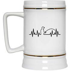 Fisherman Heartbeat Mugs
