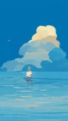 Ocean Wallpaper, Doodle Inspiration, Aesthetic Anime, Pretty Art, Anime Artwork, Art Quotes, Beautiful Pictures, Art Inspo, Watercolor