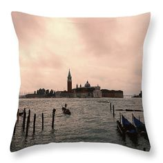 "Other Venice 2 Throw Pillow by Marina Usmanskaya.  Our throw pillows are made from 100% spun polyester poplin fabric and add a stylish statement to any room.  Pillows are available in sizes from 14"" x 14"" up to 26"" x 26"".  Each pillow is printed on both sides (same image) and includes a concealed zipper and removable insert (if selected) for easy cleaning                                    #MarinaUsmanskayaFineArtPhotography , Art For Home,Art Prints, venice,Italy,Home Design"