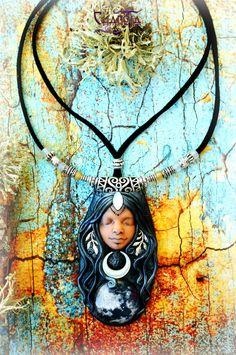 Moon Goddess Pendant 1-Fullmoon goddess pendant by ChaNoJaJewelry