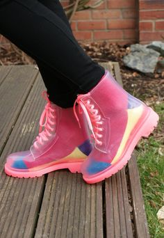 Clear Jelly Dr Martin DM Style Ankle See Through Boots